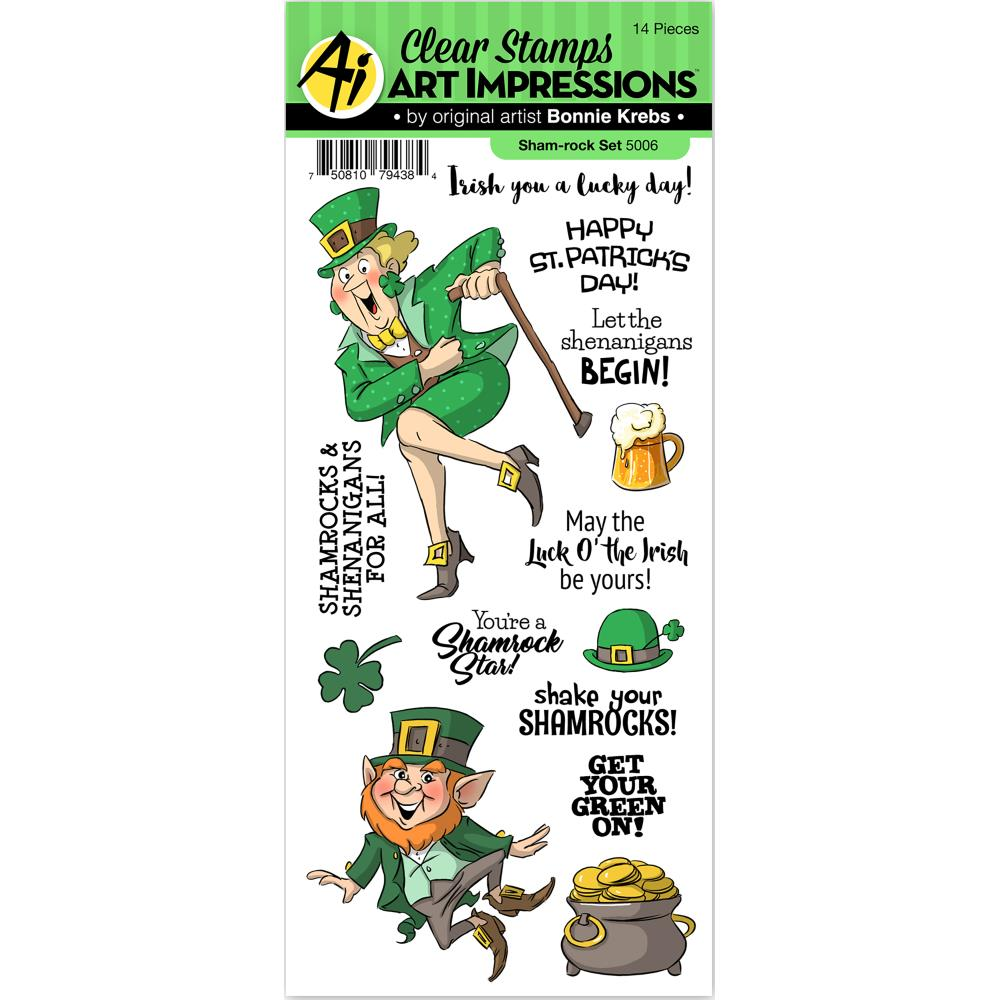 Bild 1 von Art Impressions Clearstamps St. Patricks Sham-Rock