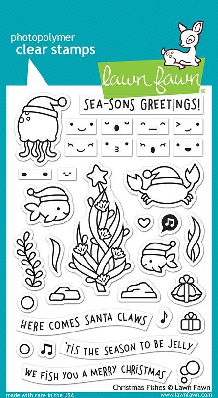 Bild 1 von Lawn Fawn Clear Stamps  - Clearstamp christmas fishes