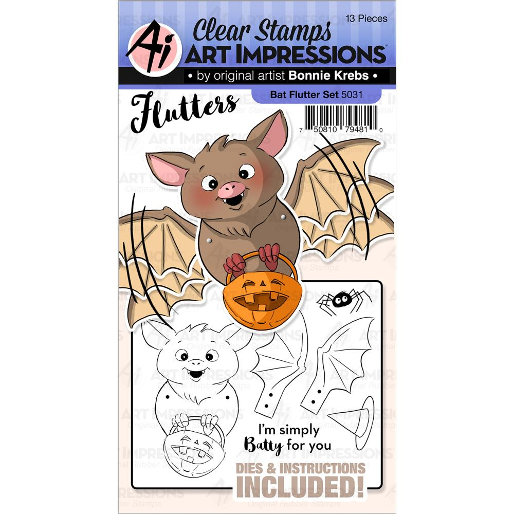 Bild 1 von Art Impressions Clearstamps & Stanz-Set - Flutters Stamp & Die Set - Bat