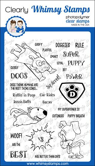 Bild 1 von Whimsy Stamps Clear Stamps  - Super Dogs - Super Hunde