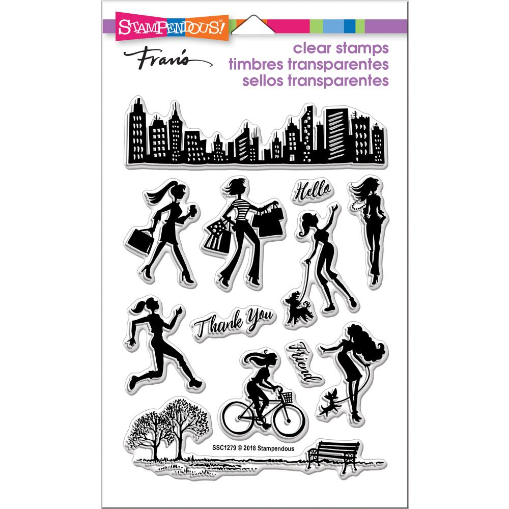 Bild 1 von Stampendous Perfectly Clear Stamps - Sassy City