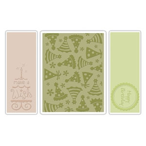 Bild 1 von Sizzix Prägefolder Textured Folders Birthday Set #5