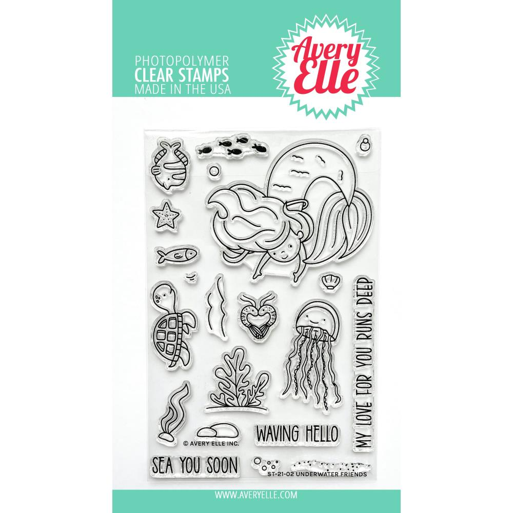 Bild 1 von Avery Elle Clear Stamps - Underwater Friends - Meerjungfrau