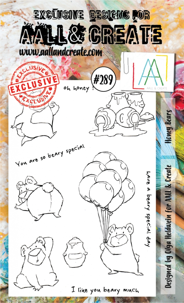 Bild 1 von AALL & Create Clear Stamps  - Honey Bears