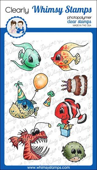 Bild 1 von Whimsy Stamps Clear Stamps  - Best Fishes - Party Fische