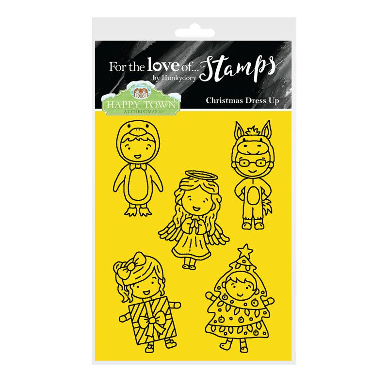Bild 1 von For the love of...Stamps by Hunkydory - Happy Town Clear Stamp - Christmas Dress Up