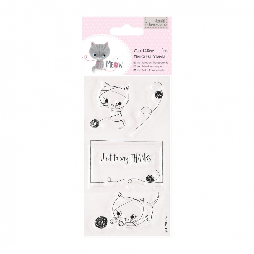 Bild 1 von Papermania Clearstamp - Little Meow - Just to Say