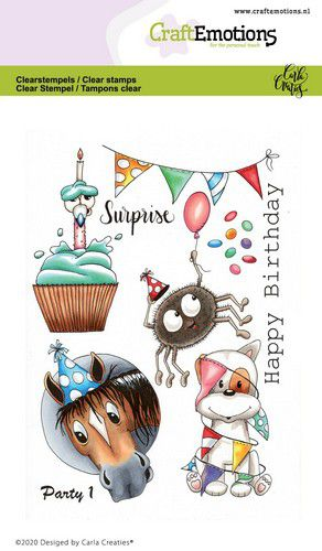 Bild 1 von CraftEmotions Stempel - clearstamps A6 - Party 1 Carla Creaties