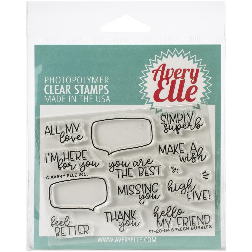Bild 1 von Avery Elle Clear Stamps - Speech Bubbles
