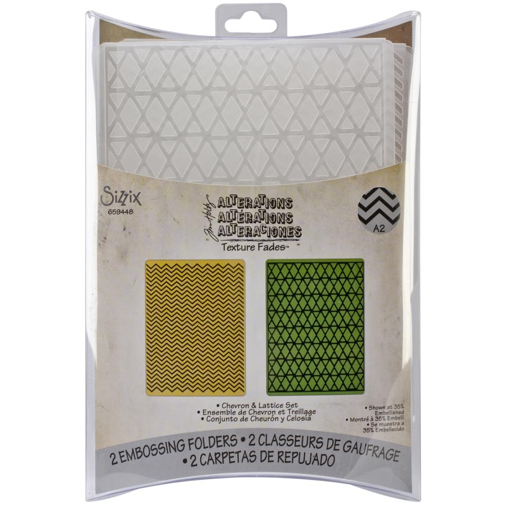 Bild 1 von Tim Holtz Alterations Prägefolder Texture Fades Chevrons & Lattice