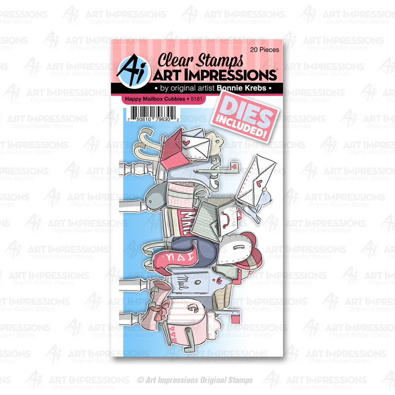 Bild 1 von Art Impressions Clear Stamps with dies Happy Mailbox Cubbies - Stempelset inkl. Stanzen