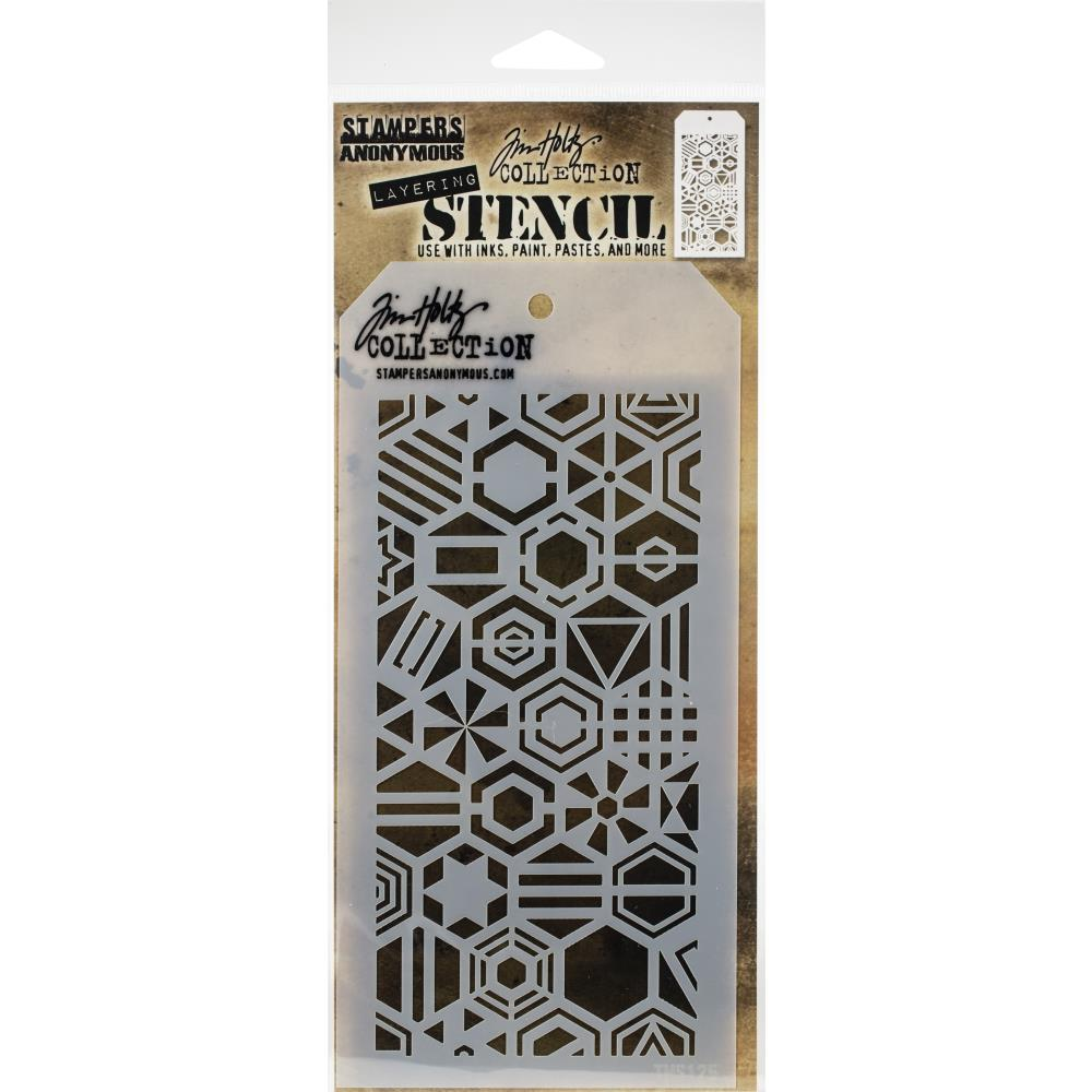 Bild 1 von Tim Holtz Collection Schablone Layering Stencil Patchwork Hex