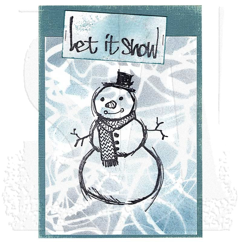 Bild 1 von The Art of Brett Weldele Cling Mount Stamps Gummistempel - Blizzy the Happy Snowman