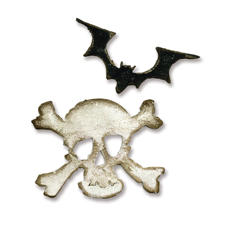 Bild 1 von Tim Holtz Alterations Stanzschablone Movers & Shapers M. Bat & Skull