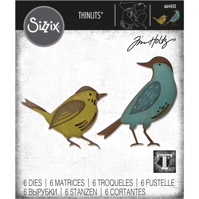 Bild 1 von Sizzix Thinlits Dies Stanzschablone By Tim Holtz Feathered Friends
