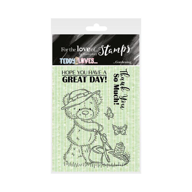 Bild 1 von For the love of...Stamps by Hunkydory - Clearstamps Teddy Loves... Gardening