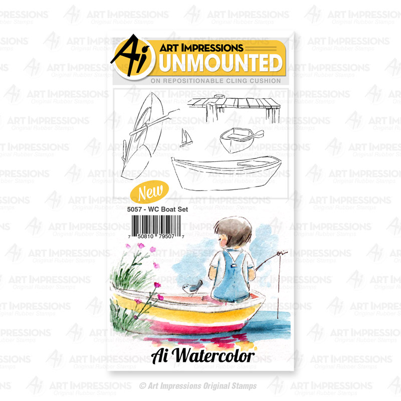 Bild 1 von Art Impressions Stempelgummi  Watercolor Boat Set