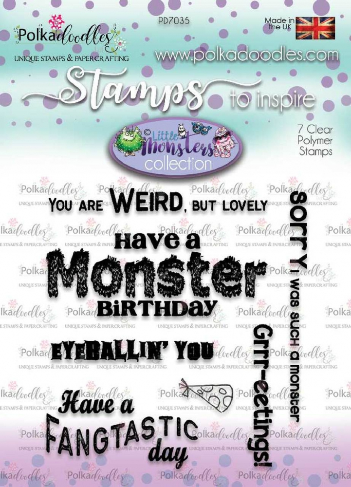 Bild 1 von Polkadoodles Clear Stamps - Little Monsters messages