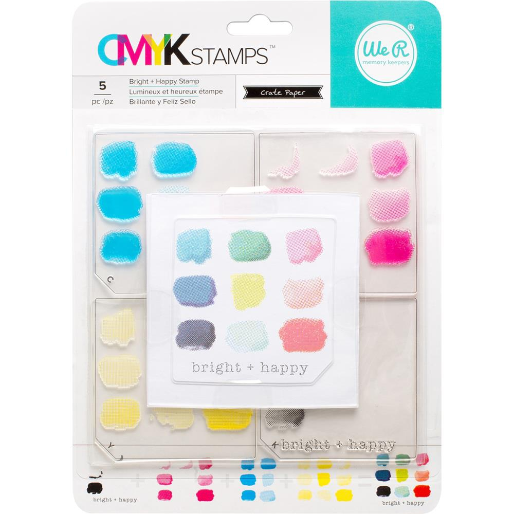 Bild 1 von We R Memory Keepers CMYK Clearstamps - Bright + Happy