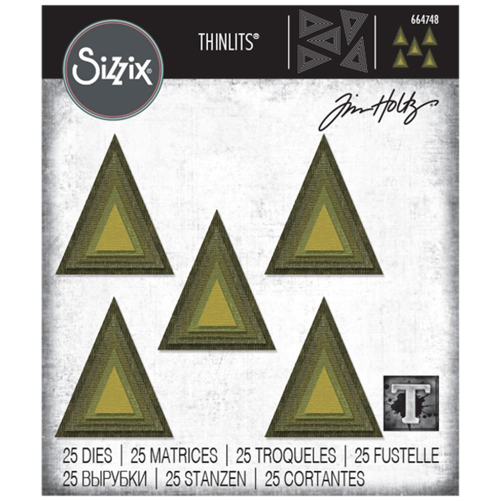 Bild 1 von Sizzix Thinlits Dies Stanzschablone By Tim Holtz Stacked Tiles Triangles