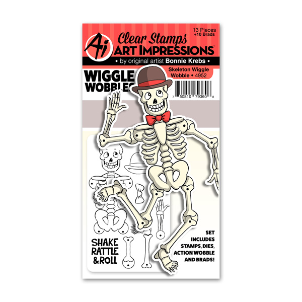 Bild 1 von Art Impressions Clearstamps Skeleton Wiggle Wobble