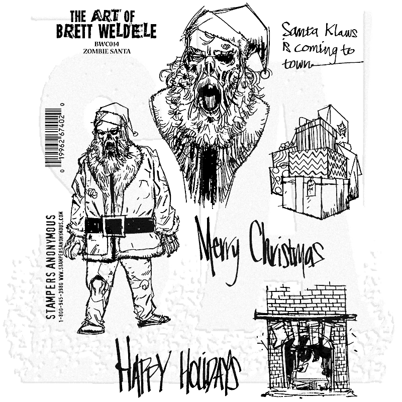 Bild 1 von The Art of Brett Weldele Cling Mount Stamps Gummistempel - Zombie Santa