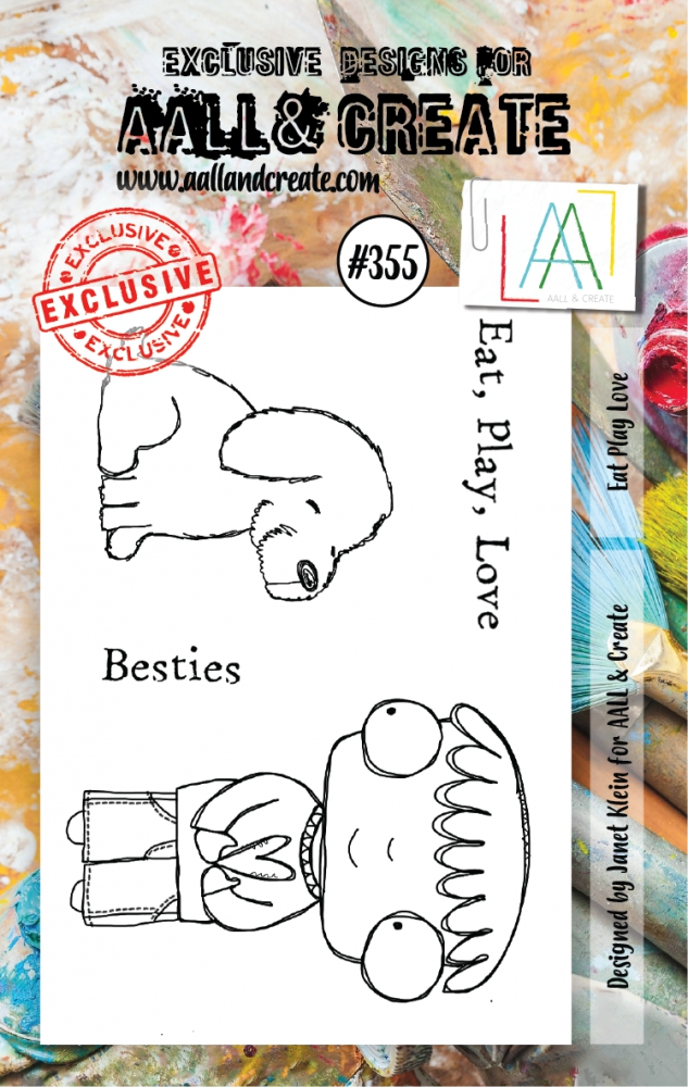 Bild 1 von AALL & Create Clear Stamps - Eat Play Love