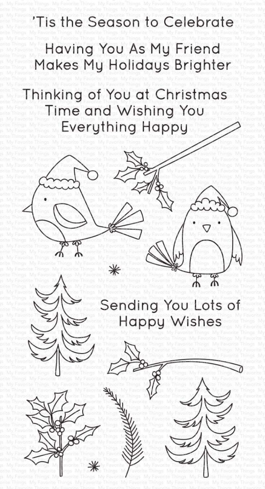 Bild 1 von My Favorite Things - Clear Stamps Christmas Cardinals - Vögel