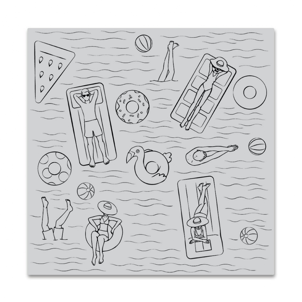 Bild 1 von Hero Arts Cling Stamp - Pool Party bold prints