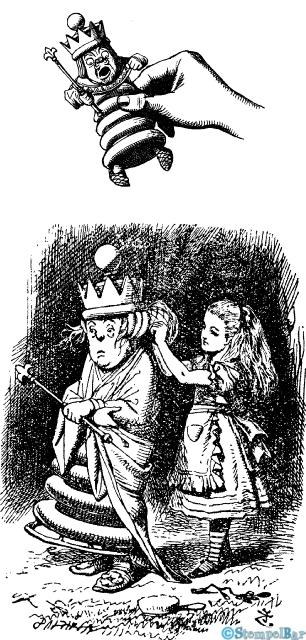 Stempelbar Stempelgummi Alice Im Wunderland Die Weiße Königin
