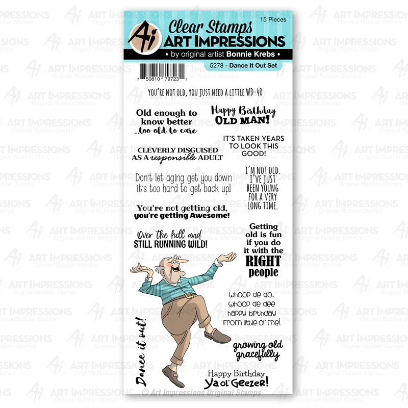 Bild 1 von Art Impressions Stamp Set - Dance It Out Laugh Lines