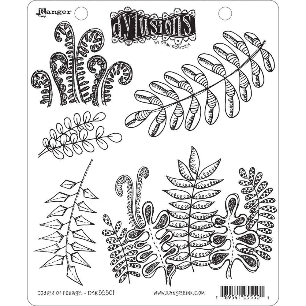 Bild 1 von Dyan Reaveley's Dylusions Cling Stamp Gummistempel  Oodles Of Foliage