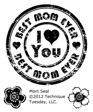 Bild 1 von Technique Tuesday Clearstamps Mom Seal