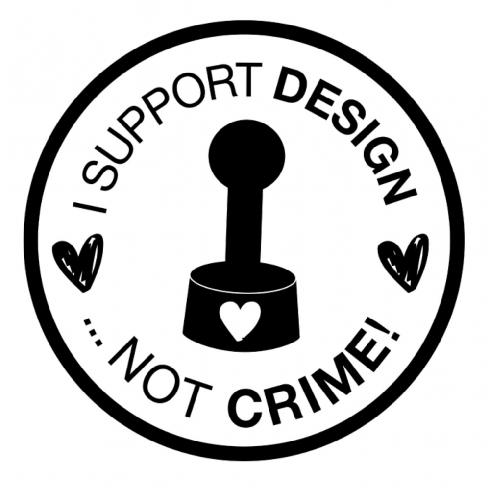 Bild 1 von StempelBar Stempelgummi I support design ...not crime!