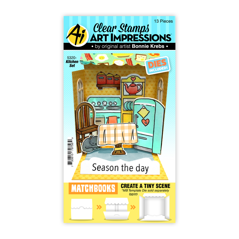 Bild 1 von Art Impressions Clear Stamps with dies MB Kitchen Set - Stempelset inkl. Stanzen