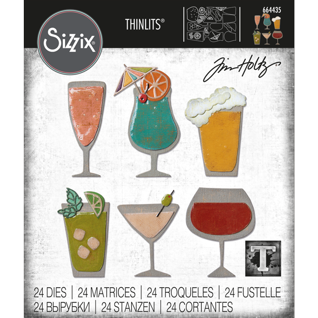 Bild 1 von Sizzix Thinlits Dies Stanzschablone By Tim Holtz Happy Hour