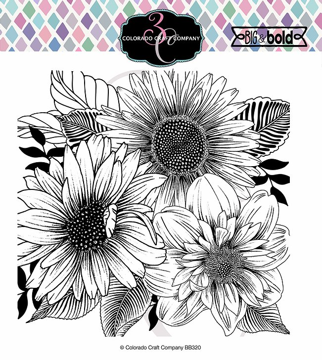 Bild 1 von Colorado Craft Company Clear Stamps - Big & Bold~Daisy & Dahlia