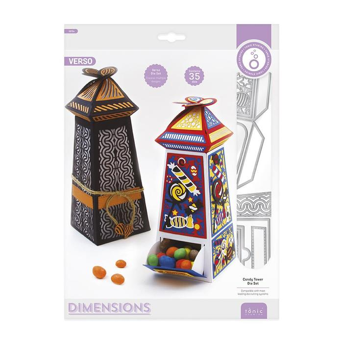 Bild 1 von Tonic Studios Dimensions Candy Tower Die Set - Stanzschablonen Set