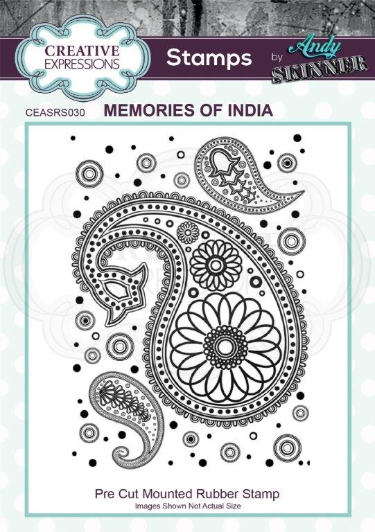 Bild 1 von CE Rubber Stamp by Andy Skinner Memories of India - Paisley