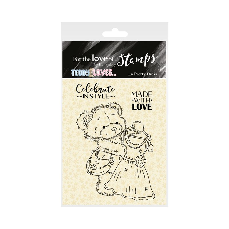 Bild 1 von For the love of...Stamps by Hunkydory - Clearstamps Teddy Loves... A Pretty Dress