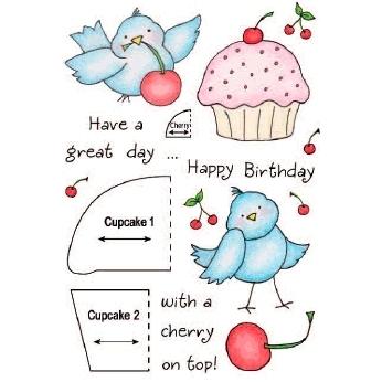 Clearstamps Honeypop Cupcake Birdy 1