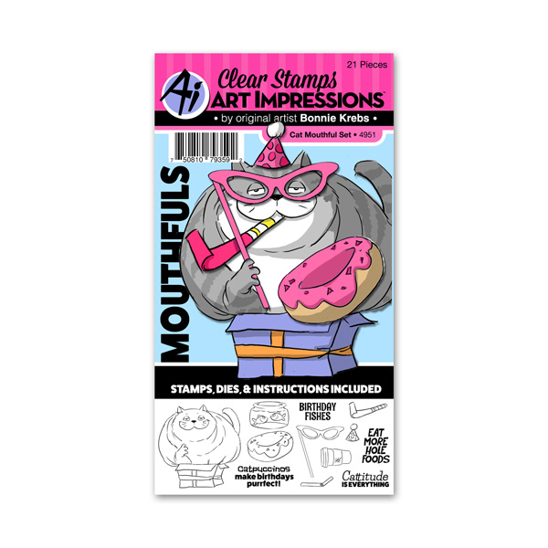 Bild 1 von Art Impressions Clearstamps Stanze Cat Mouthful Set