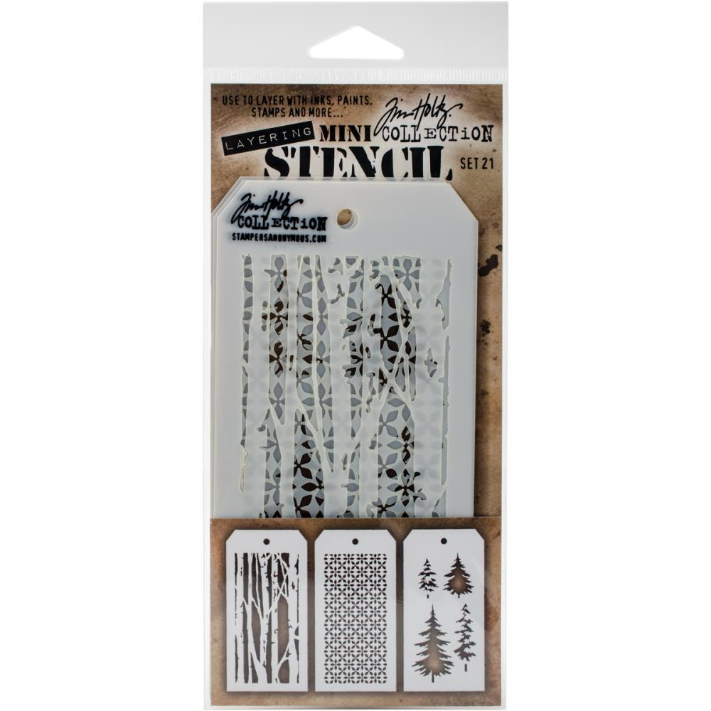Bild 1 von Tim Holtz Collection Schablone Mini Layering Stencil Set #21