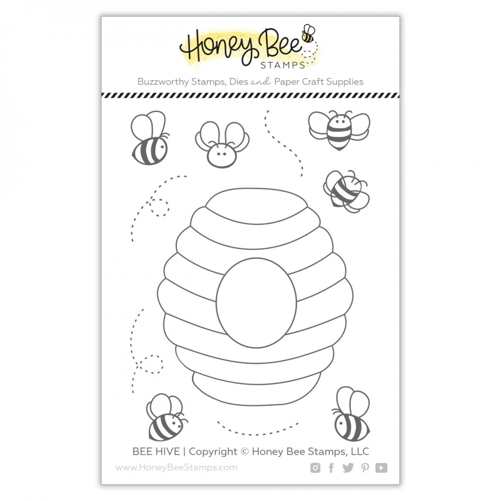 Bild 1 von Honey Bee Stamps Clearstamp - Bee Hive - Bienenkorb