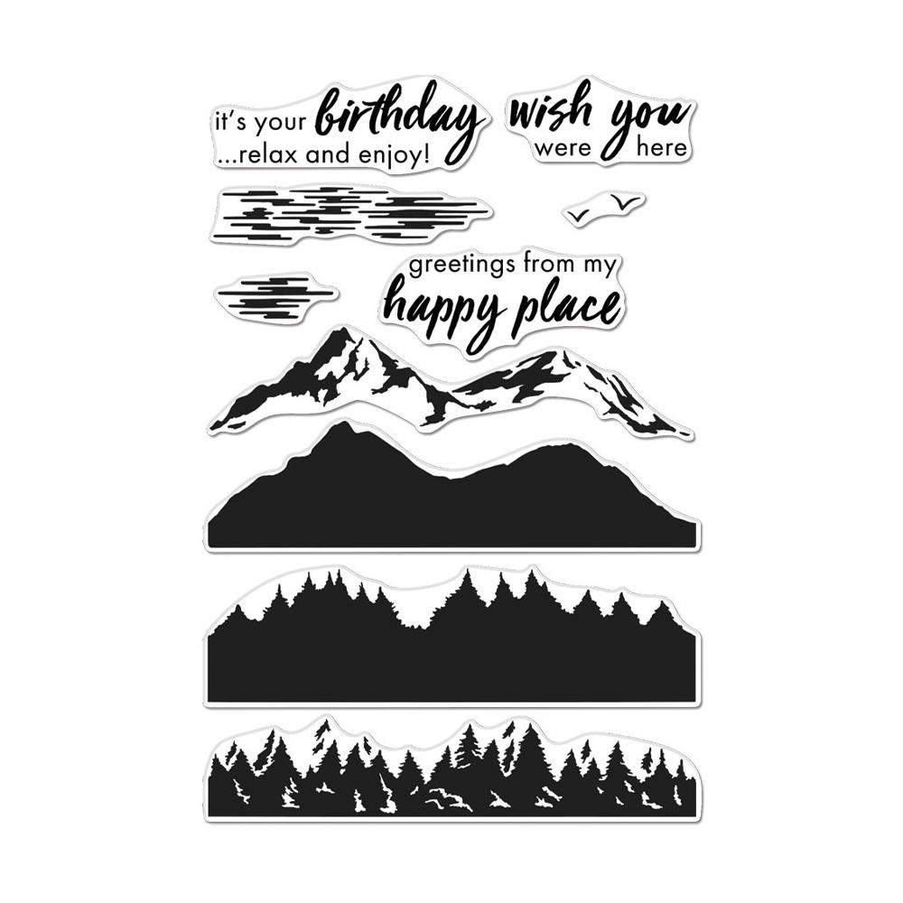 Bild 1 von Hero Arts Color Layering Clear Stamps - Mountains At The Lake