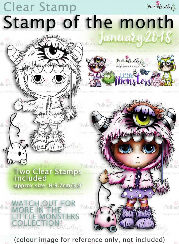 Bild 1 von Polkadoodles Clear Stamps - Ivy Monster Costume Onesie