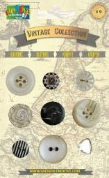 Bild 1 von Vintage Collection Buttons Black & White