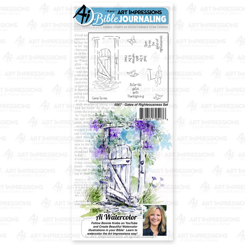 Bild 1 von Art Impressions Stempelgummi Watercolor - Bible Journaling - Gates of Righteousness Set