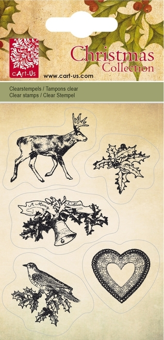 Bild 1 von Clearstamps Christmas Collection Moose & Holly Leaf