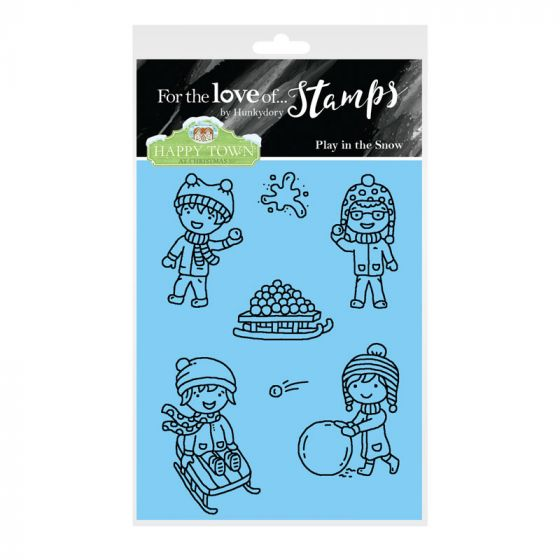 Bild 1 von For the love of...Stamps by Hunkydory - Happy Town Clear Stamp - Play in the Snow